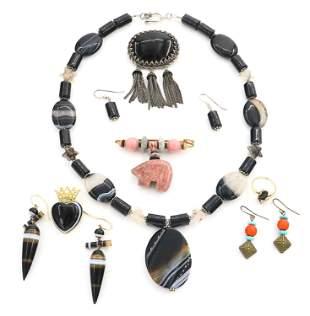 8 Pieces of Stone Costume Jewelry
