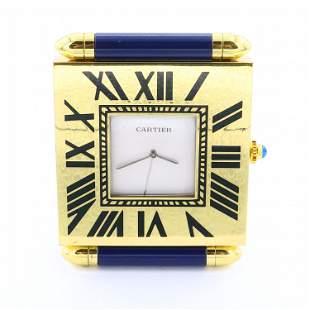 Cartier Quartz Travel Clock
