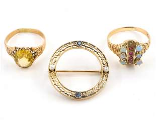 3 Pieces of Gold Jewelry