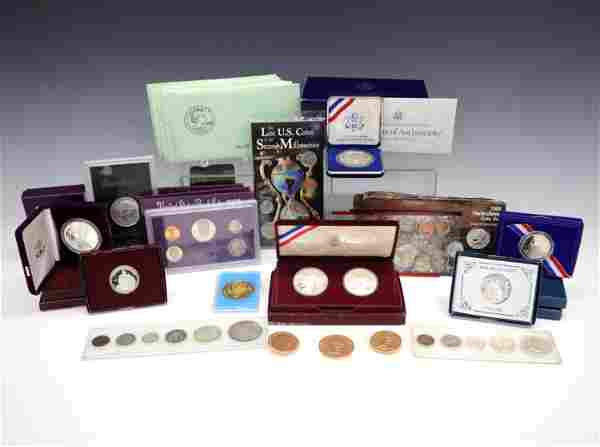 Large Group of U.S. Coins and Commemoratives