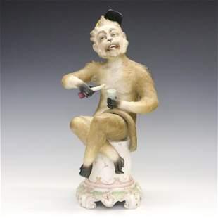 Porcelain Monkey Figure