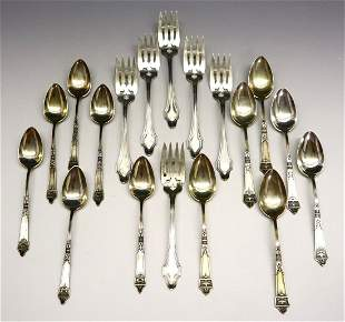 18 pcs Sterling Silver Spoons & Forks