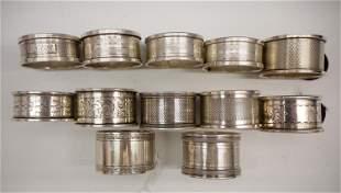 12 Sterling Silver Napkin Rings