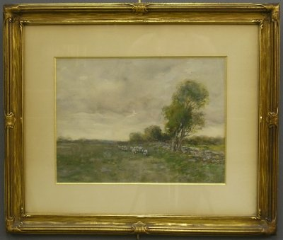 34: Charles Gruppe watercolor landscape