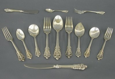 "13: 13 pc Wallace ""Grand Baroque"" Sterling"