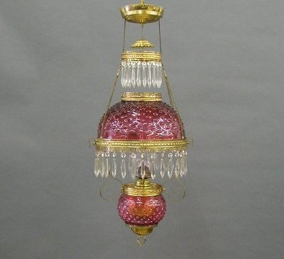19: Cranberry hanging lamp