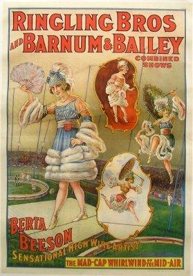 3: Ringling Bros/Berta Beeson Circus poster