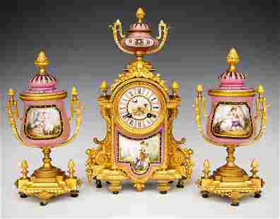 Japy Freres French Clock Set