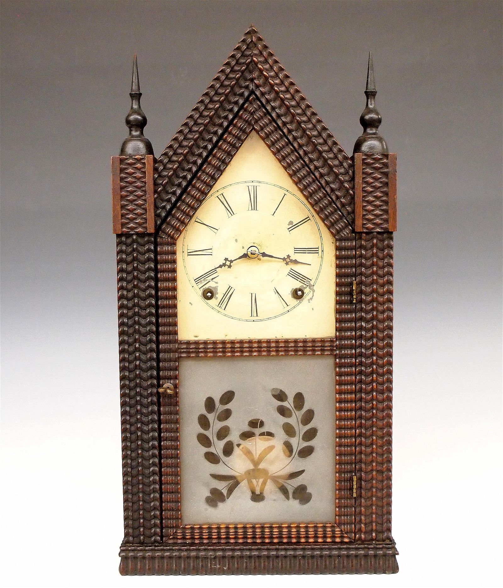 J.C. Brown Ripple Front Steeple Clock