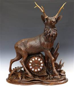 Black Forest Stag Clock