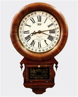 Ansonia Drop Extra Calendar Wall Clock