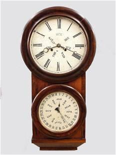 L.F. & W.W. Carter Calendar Wall Clock