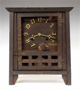 New Haven Arts & Crafts Shelf Clock
