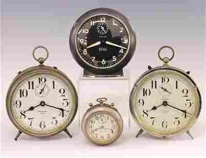 4 Small Alarm Clocks
