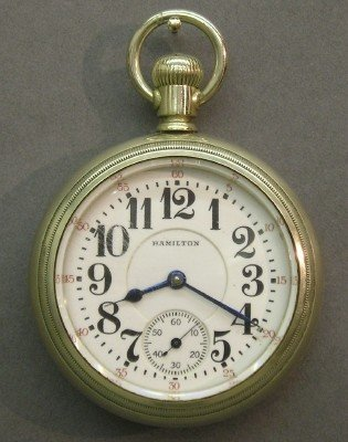 7: 21 Jewel Hamilton Railroad watch