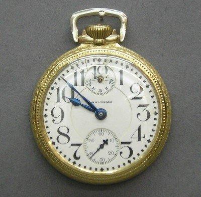 10: 23 j AWW Co Vanguard pocket watch