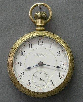 12: 21 j Elgin Father Time pocket watch