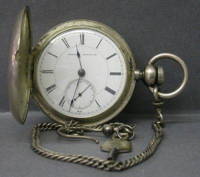 18: Hampden Coin Silver pocket watch