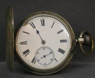 21: J Bennett Sterling pocket watch