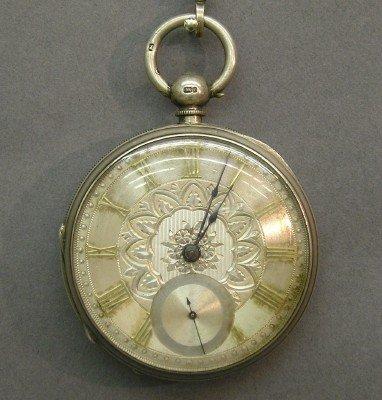 22: C Winterhalder Sterling pocket watch