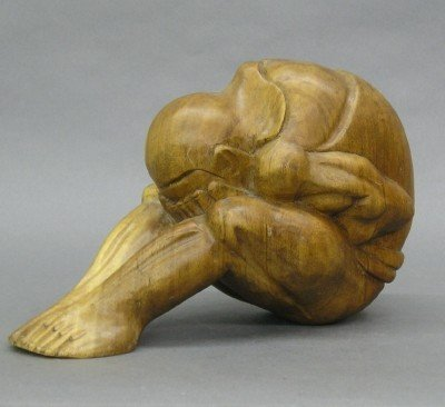 10: Carved Indonesian Male Figure