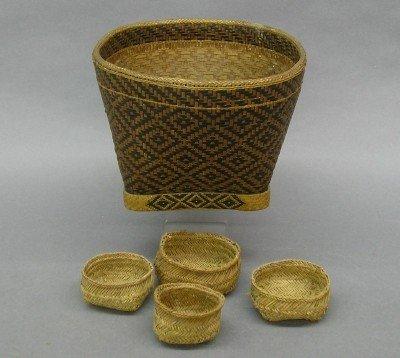 13: Dayak Tribal baskets