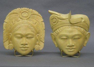 15: Carved Bali Portrait Plaques
