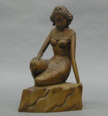17: Carved Bali Female Figure