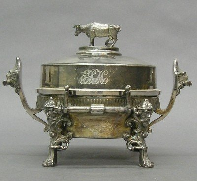 21: Silver plated Butter dish
