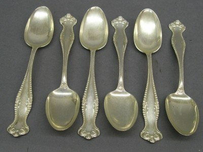12: 6 Towle Sterling spoons