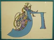 183: Peter Max Artist's Proof serigraph