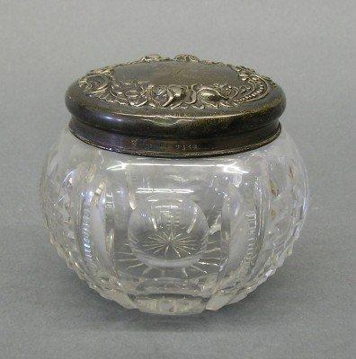 3: Cut Crystal dresser jar