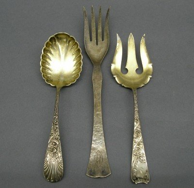6: 3 Sterling serving pieces