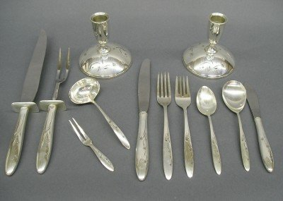 10: Gorham Celeste Sterling flatware