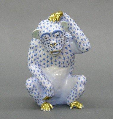 22: Herend porcelain figure