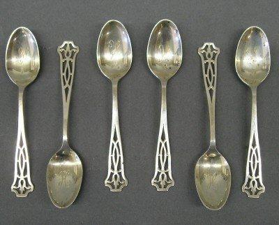1: Sterling demitasse spoons