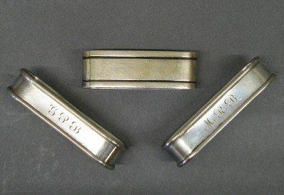 2: 3 Sterling napkin rings