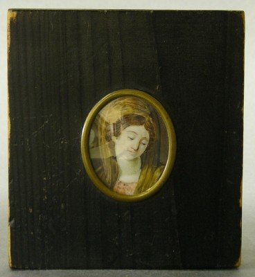 21: Ivory portrait miniature