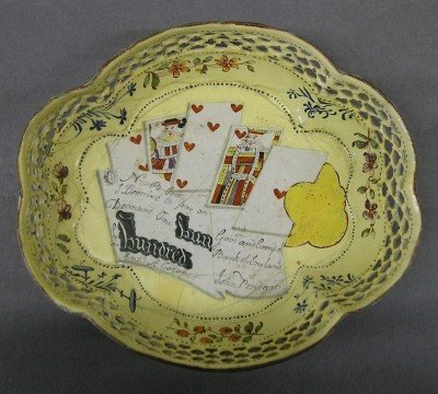 23: 18th century enameled Debt tray