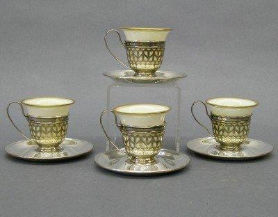 7: 4 Lenox demitasse cups