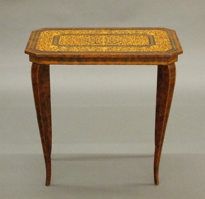 8: Italian inlaid side table