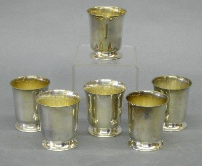 9: 6 Sterling footed cups