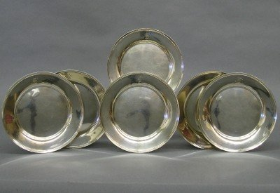 12: 12 Sterling bread plates