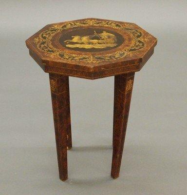 13: Italian inlaid side table