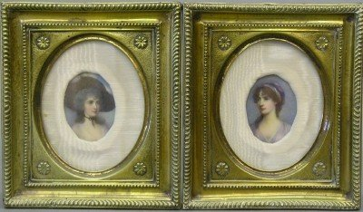 22: Pr of Portrait miniatures