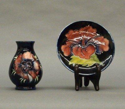 108: 2 pcs Moorcroft Pottery