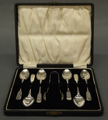 3: Cased Sterling teaspoons
