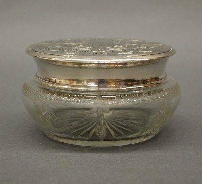 6: Sterling covered powder jar