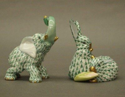 16: 2 Herend porcelain figures