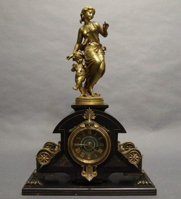 10: French figural mantle clock